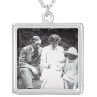 Virginia Woolf with Clive and Julian Bell, 1910 Silver Plated Necklace