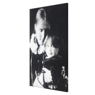 Virginia Woolf, with her mother Julia, 1884 Canvas Print