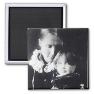 Virginia Woolf, with her mother Julia, 1884 Magnet