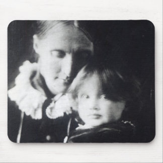 Virginia Woolf, with her mother Julia, 1884 Mouse Mat
