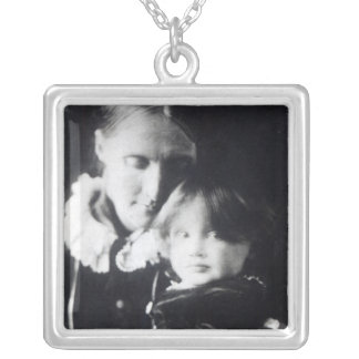 Virginia Woolf, with her mother Julia, 1884 Silver Plated Necklace