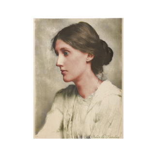 Virginia Woolf Wood Poster
