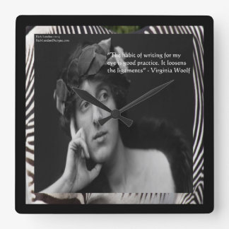 Virginia Woolf & Writers Quote Wall Clock