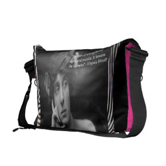 Virginia Woolf & Writing Quote Messenger Bag
