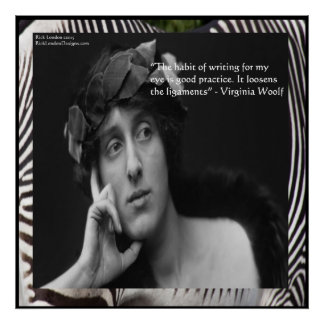 Virginia Woolf & Writing Quote Poster