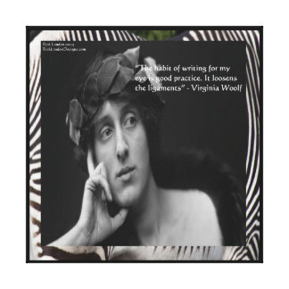 Virginia Woolf & Writing Quote WrappedCanvas Print Stretched Canvas Print