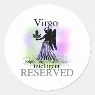 Virgo About You Round Sticker