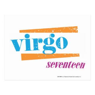 Virgo Aqua Postcard