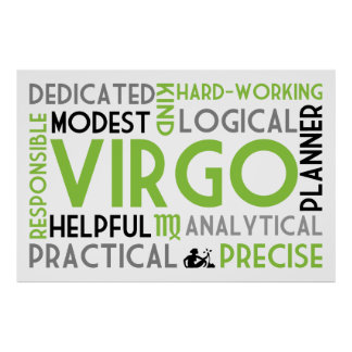 Virgo Astrology Word Collage Print
