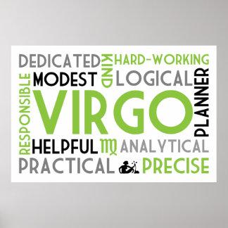 Virgo Astrology Word Collage Print