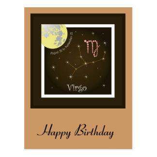 Virgo August 23 tons of Septembers 23 postcard