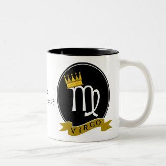 Virgo Black 11 oz Two-Tone Mug