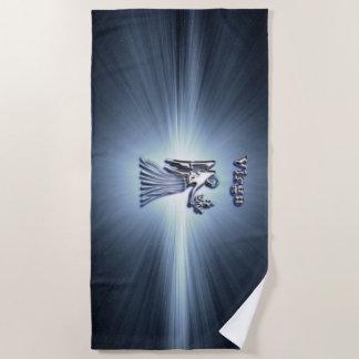 Virgo chrome symbol beach towel