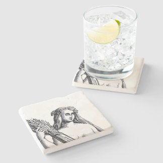 Virgo Coaster Stone Beverage Coaster