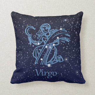 Virgo Constellation and Zodiac Sign with Stars Cushion