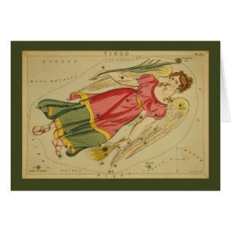 Virgo Constellation Card
