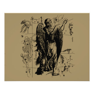 Virgo Constellation Hevelius 1690 Aug23 - Sept22 Art Photo