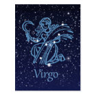 Virgo Constellation & Zodiac Sign with Stars Postcard