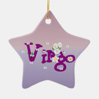 Virgo Flowers Christmas Ornament