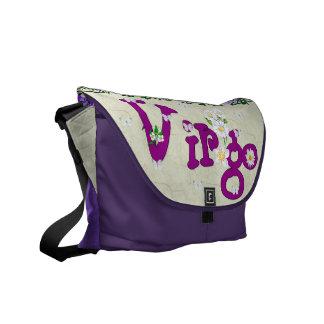 Virgo Flowers Courier Bag