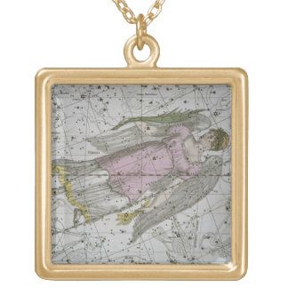 Virgo, from 'A Celestial Atlas', pub. in 1822 (col Gold Plated Necklace