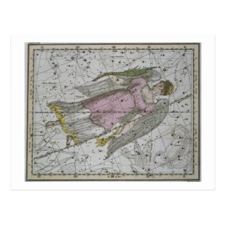 Virgo, from 'A Celestial Atlas', pub. in 1822 (col Postcard