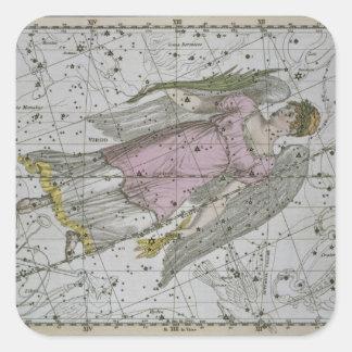 Virgo, from 'A Celestial Atlas', pub. in 1822 (col Square Sticker