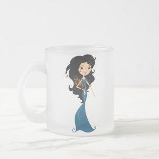 Virgo Frosted Glass Mug