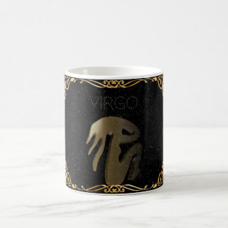 Virgo golden sign coffee mug