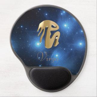 Virgo golden sign gel mouse pad