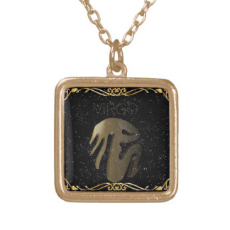 Virgo golden sign gold plated necklace