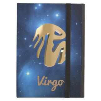 Virgo golden sign iPad air covers