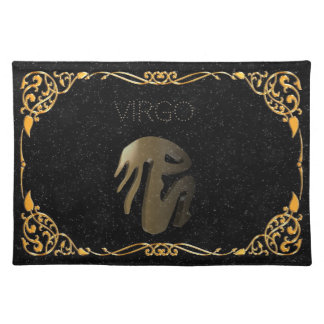 Virgo golden sign placemat
