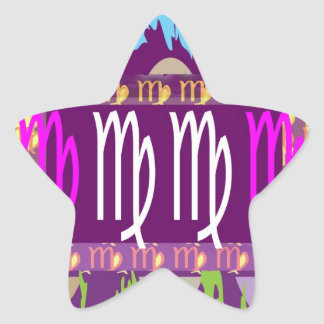 VIRGO GoodLuck n Happy Times Star Sticker