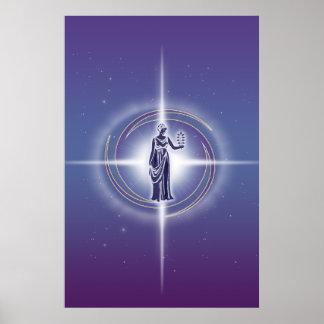 Virgo Horoscope Lavender HLRX Poster