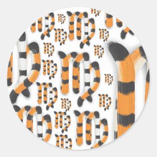 """""""Virgo in Tiger""""s Style"""" Classic Round Sticker"""