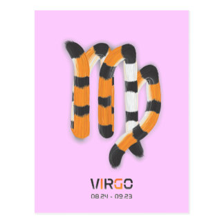 """Virgo in Tiger's Style"" Postcard"