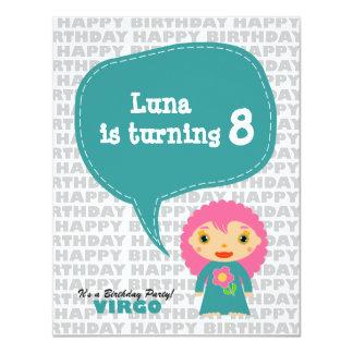 Virgo Kids Party Invitation