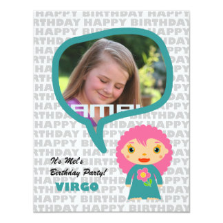 Virgo Kids Party Invitation with Photo