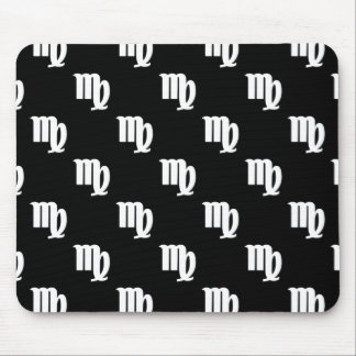 Virgo Pattern Black and White Mouse Pad