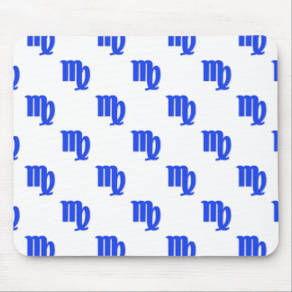 Virgo Pattern Blue Mouse Pad