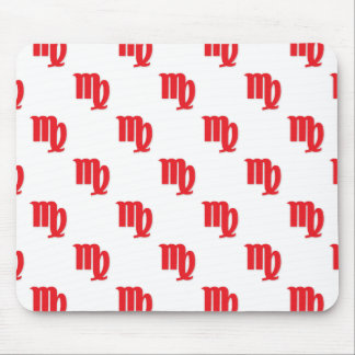 Virgo Pattern Red Mouse Pad