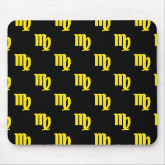 Virgo Pattern Yellow Mouse Pad