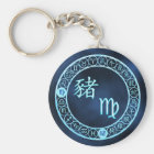 Virgo/Pig Key Ring