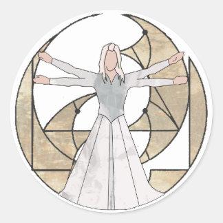 Virgo Round Sticker