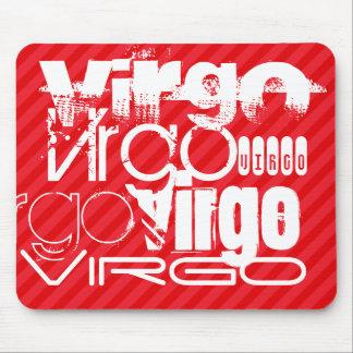 Virgo; Scarlet Red Stripes Mouse Pad