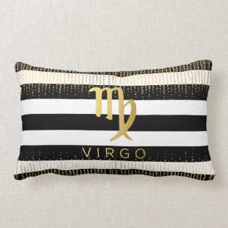 Virgo Sign Custom Name Lumbar Throw Pillow