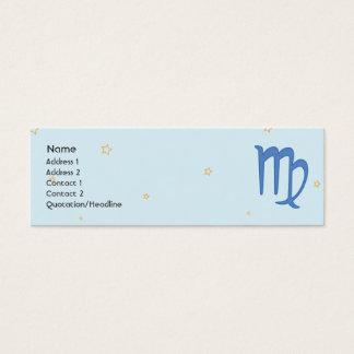 Virgo - Skinny Mini Business Card