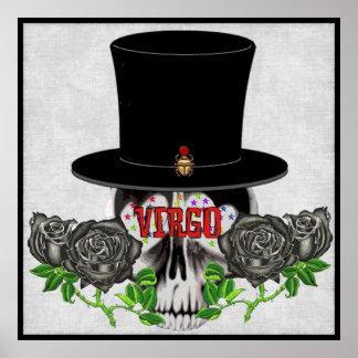 Virgo Skull Poster