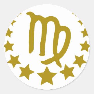 Virgo-Stars-Crown-.png Classic Round Sticker